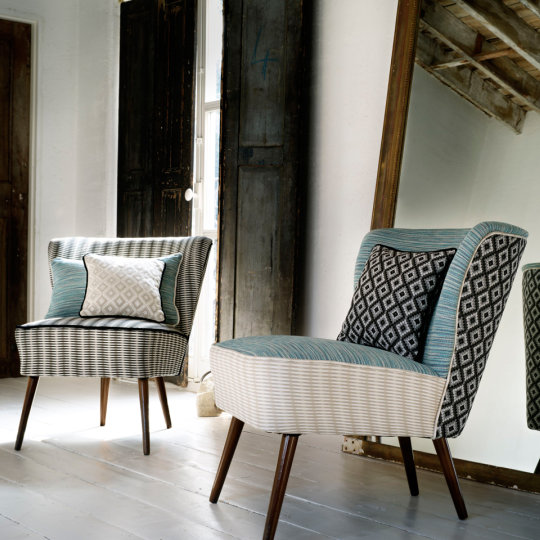 Blendworth fabrics parador chairs large square