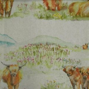 Highland cattle linen product detail