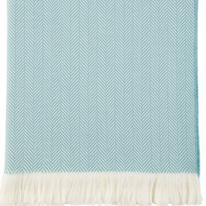 Wd000010 ru5045 aqua and white herringbone throw 4y7z8912x 2 product listing