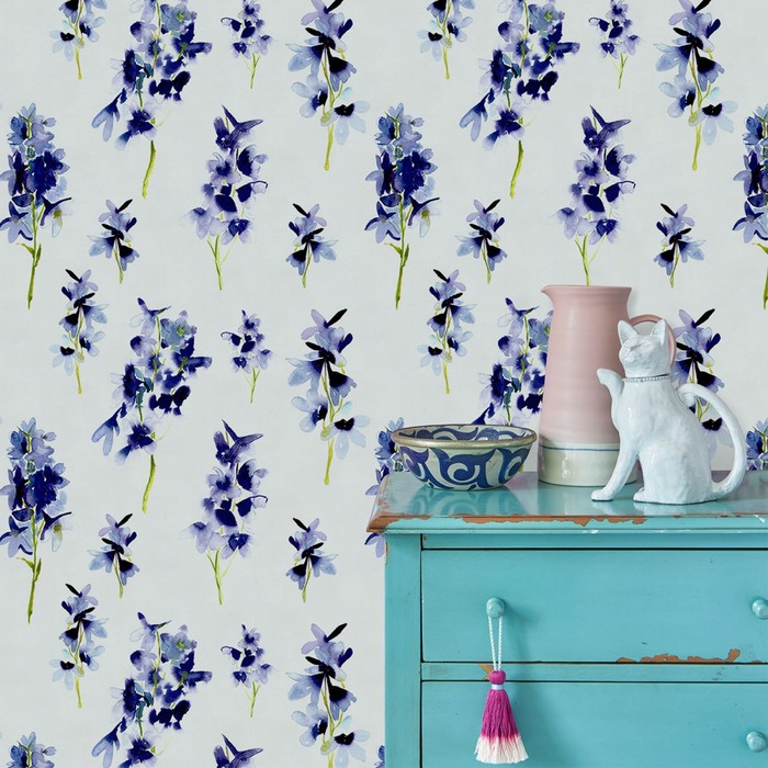 Bluebellgray delphinium wallpaper 1 product detail