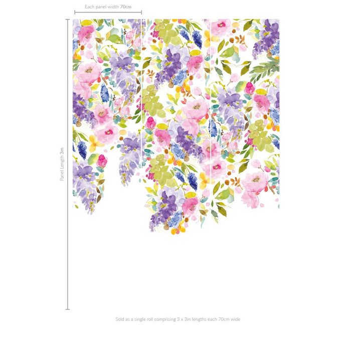 Bluebellgray wisteria garden wallpaper.2 product detail