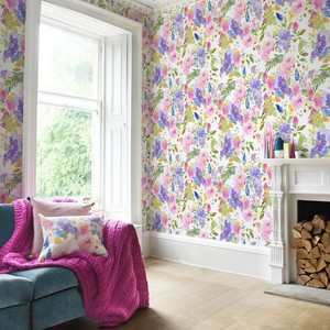 Bluebellgray wisteria wallpaper product listing