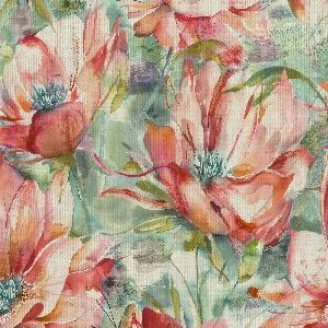 Voyage fabric dusky blooms russet product detail