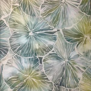 Voyage wallpaper nelumbo emerald product detail
