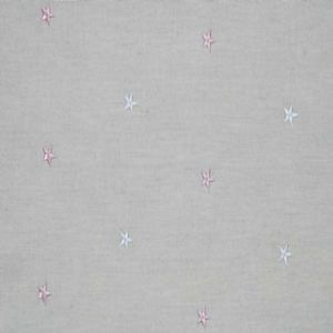 Ian mankin fabric embroidered union star pink product listing