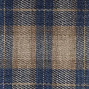 Ian mankin fabric kintyre check blue product listing