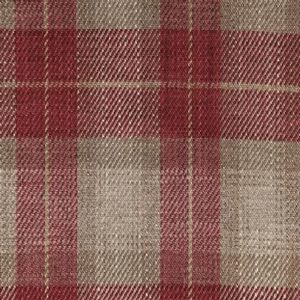 Ian mankin fabric kintyre check peony product listing