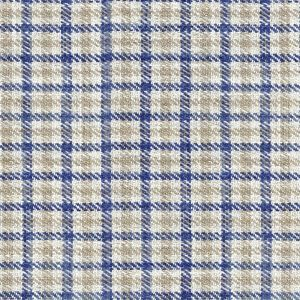 Ian mankin fabric nairn check blue product listing