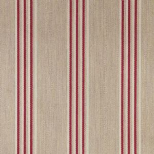 Ian mankin fabric henley stripe cream peony oilcloth product listing