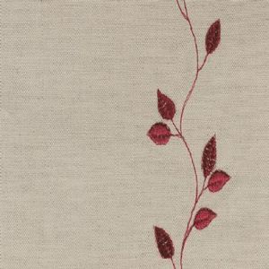 Ian mankin fabric embroidered union leaf claret product listing