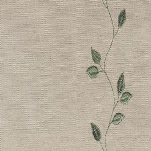 Ian mankin fabric embroidered union leaf sage product listing