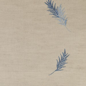 Ian mankin fabric embroidered union fern blue product listing